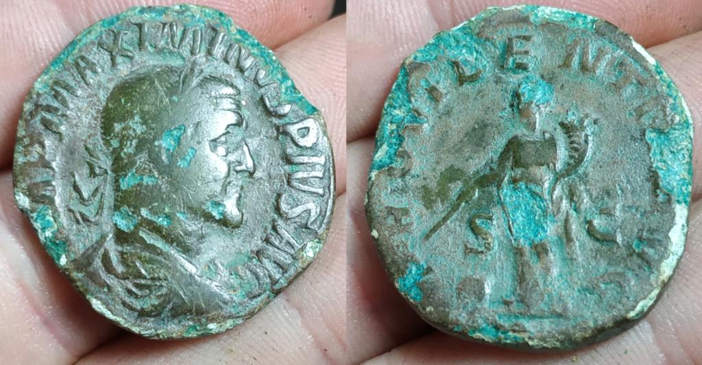 Sestercio de Maximino I. PROVIDENTIA AVG. Roma Maximi11
