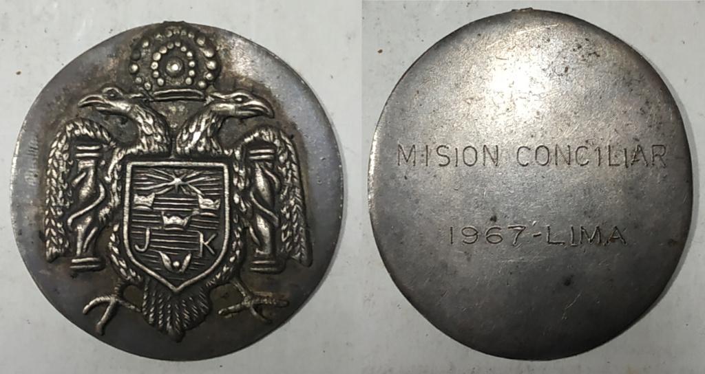 Medalla de Plata : Mision Conciliar - Lima- 1967 Medall16