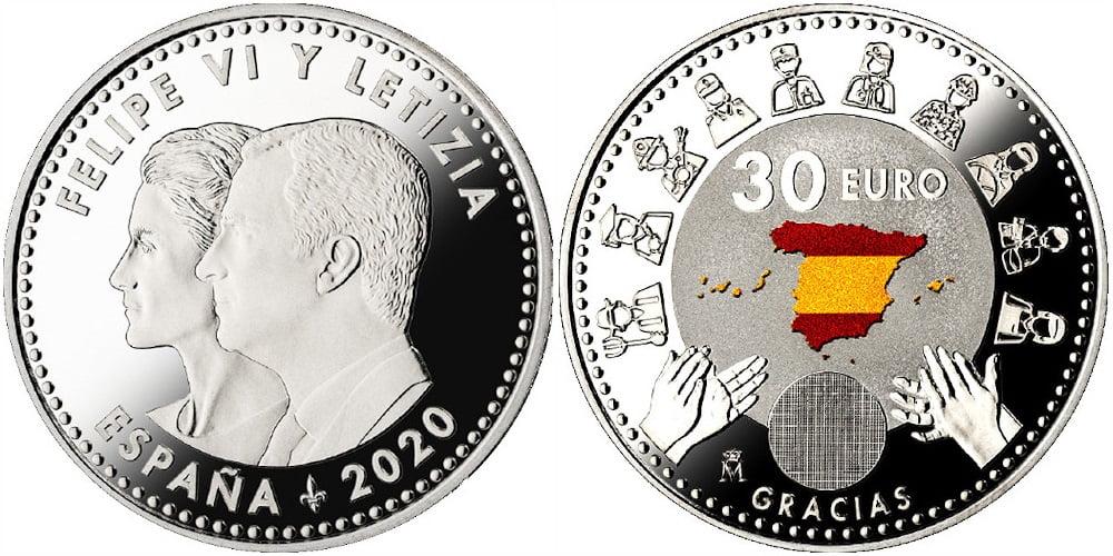 Moneda 30 Euros Covid 2020 Moneda10