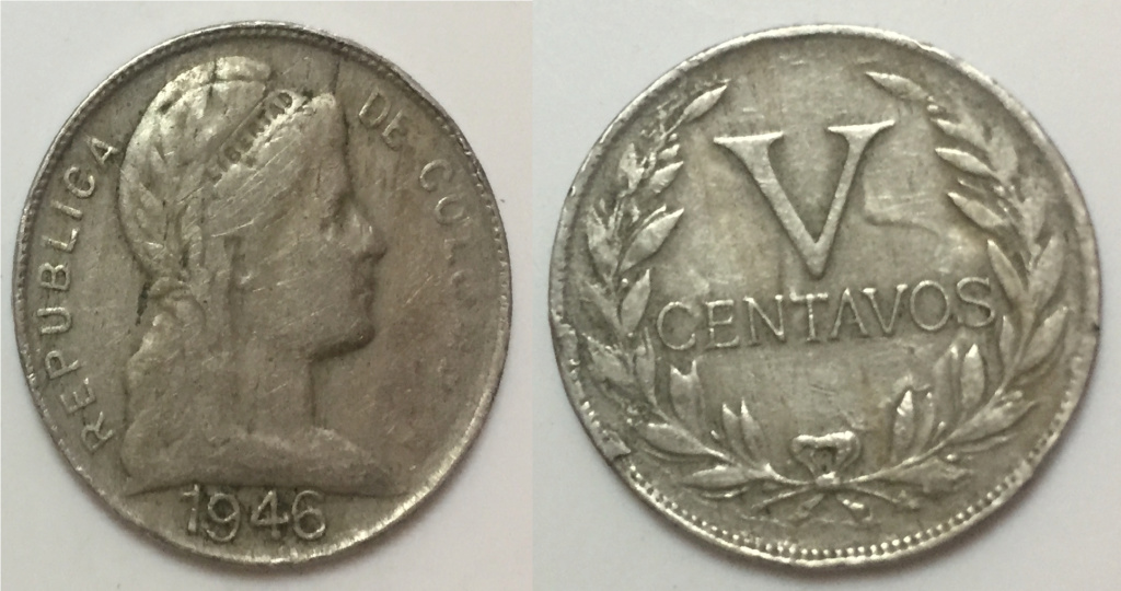 Moneda 1946 5 centavos Colombia ERROR ? Moneda10