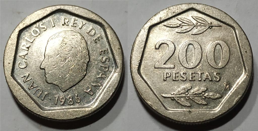 Moneda de 200 pesetas 1986 Juan Carlos I Moneda17