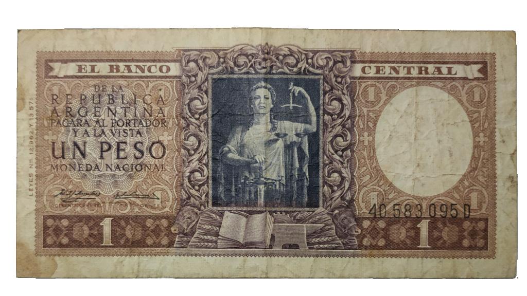 Billete Argentina 1 Peso Oie_tr10