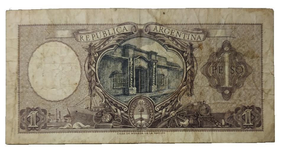 Billete Argentina 1 Peso Oie_tr11