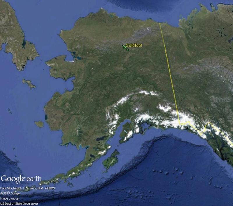 Street view: La route vers l'océan arctique. L'Alaska vu depuis la Dalton Highway. Coldfo10