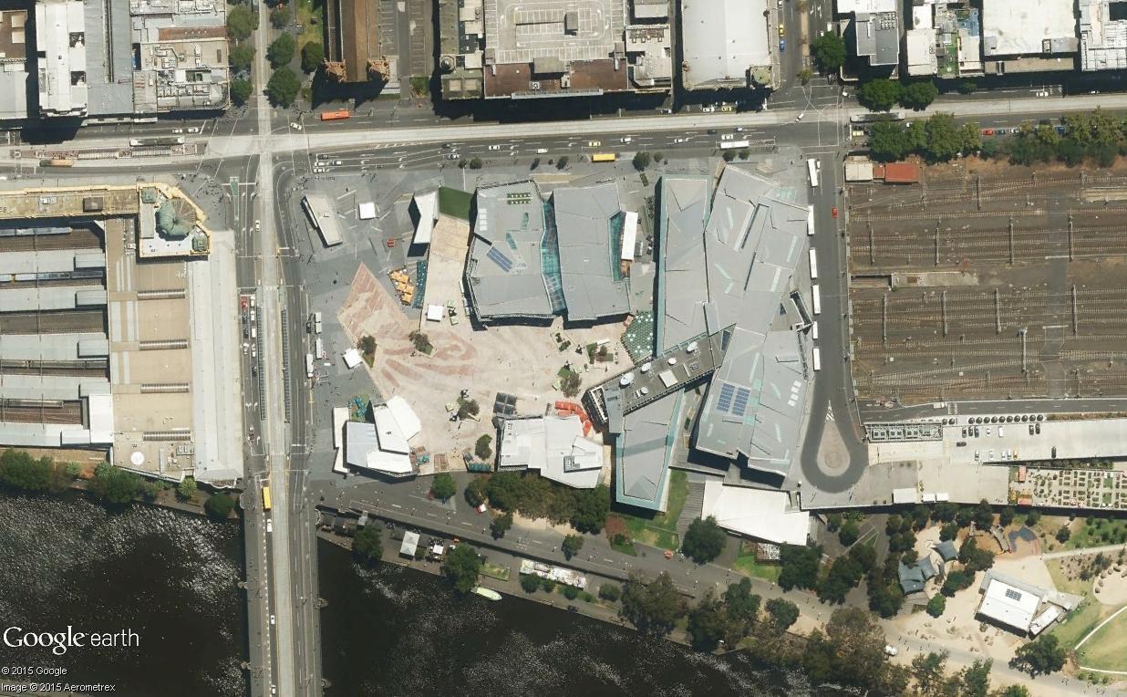 Federation Square, le centre culturel de Melbourne (Australie) Mel111