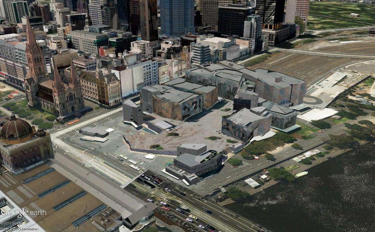 Federation Square, le centre culturel de Melbourne (Australie) Mel211