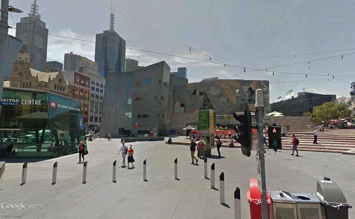 Federation Square, le centre culturel de Melbourne (Australie) Mel311