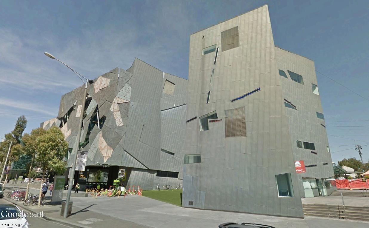 Federation Square, le centre culturel de Melbourne (Australie) Mel411