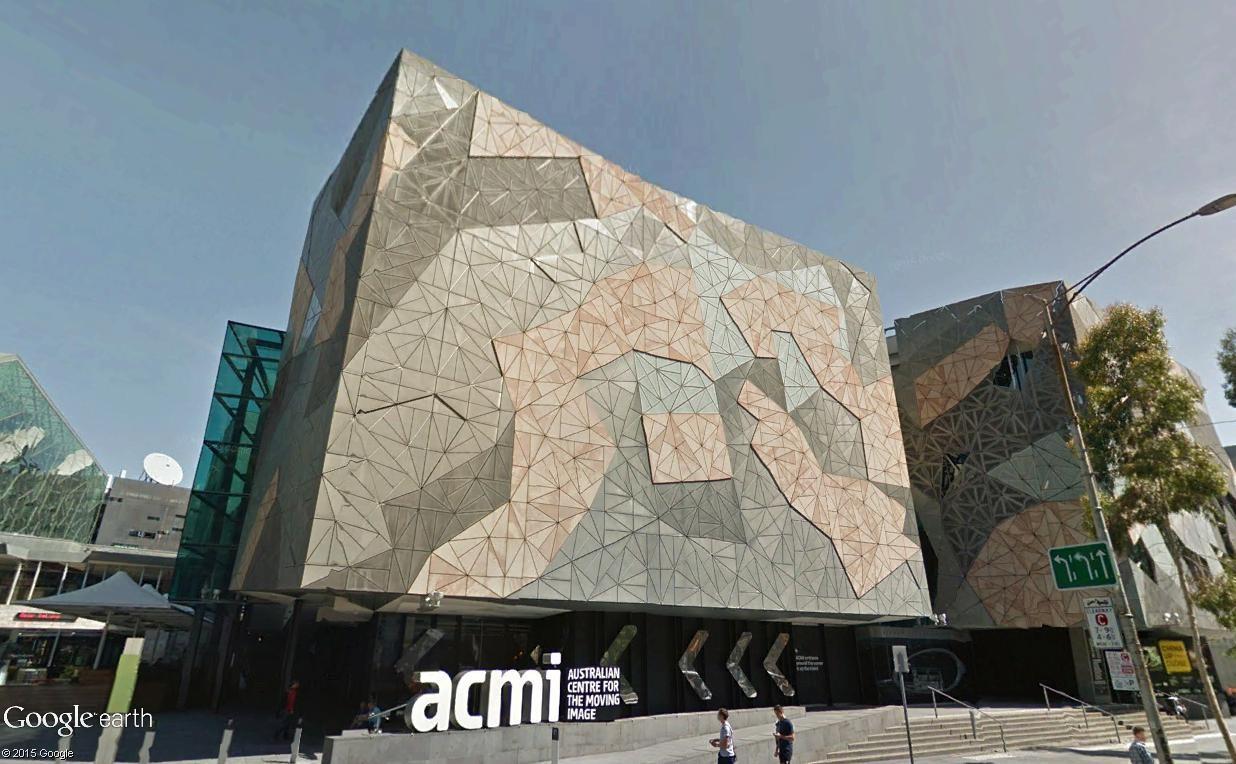 Federation Square, le centre culturel de Melbourne (Australie) Mel511