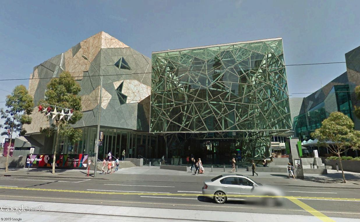 Federation Square, le centre culturel de Melbourne (Australie) Mel611