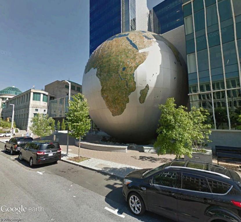 Globes terrestres visibles depuis les cieux Secu210