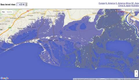 Carte Interactive De La Montée Du Niveau Des Océans