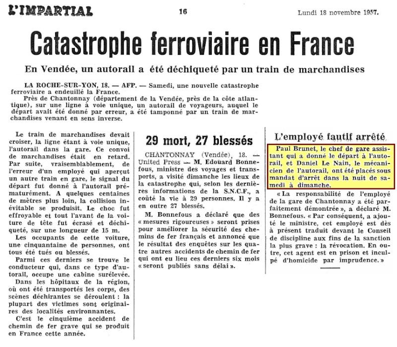 16 novembre 1957 - Catastrophe ferroviaire de Chantonnay - Page 2 1957-110