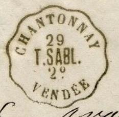 Les cachets des courriers convoyeurs lignes Chanto10