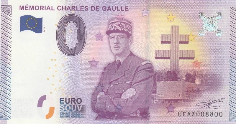 Billets 0 € Souvenirs  = 37 Gaulle10