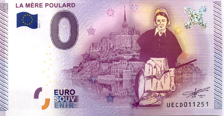 Billets 0 € Souvenirs = 65 Msm10