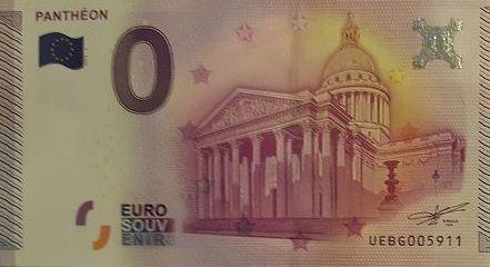 Billets 0 € Souvenirs  [Paris = 81] Panthe10