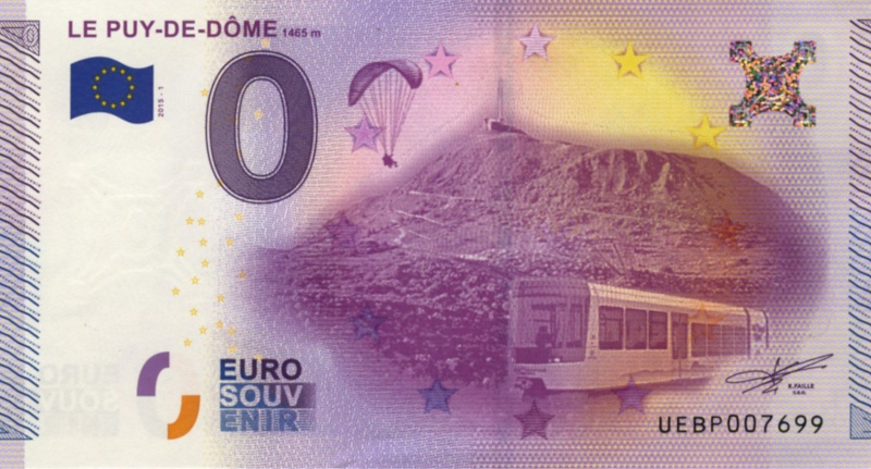 Billets 0 € Souvenirs  = 40  Puy-do10