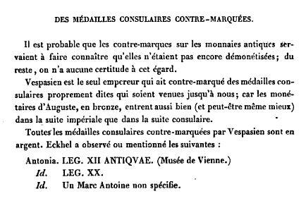 Les contremarques de Vespasien sur les deniers Vesp110