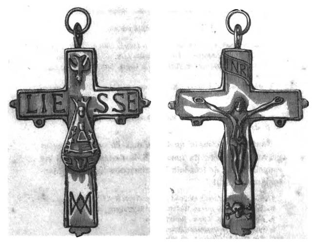 Crucifijo pectoral del Santuario de Liesse - CC092 Mydail10