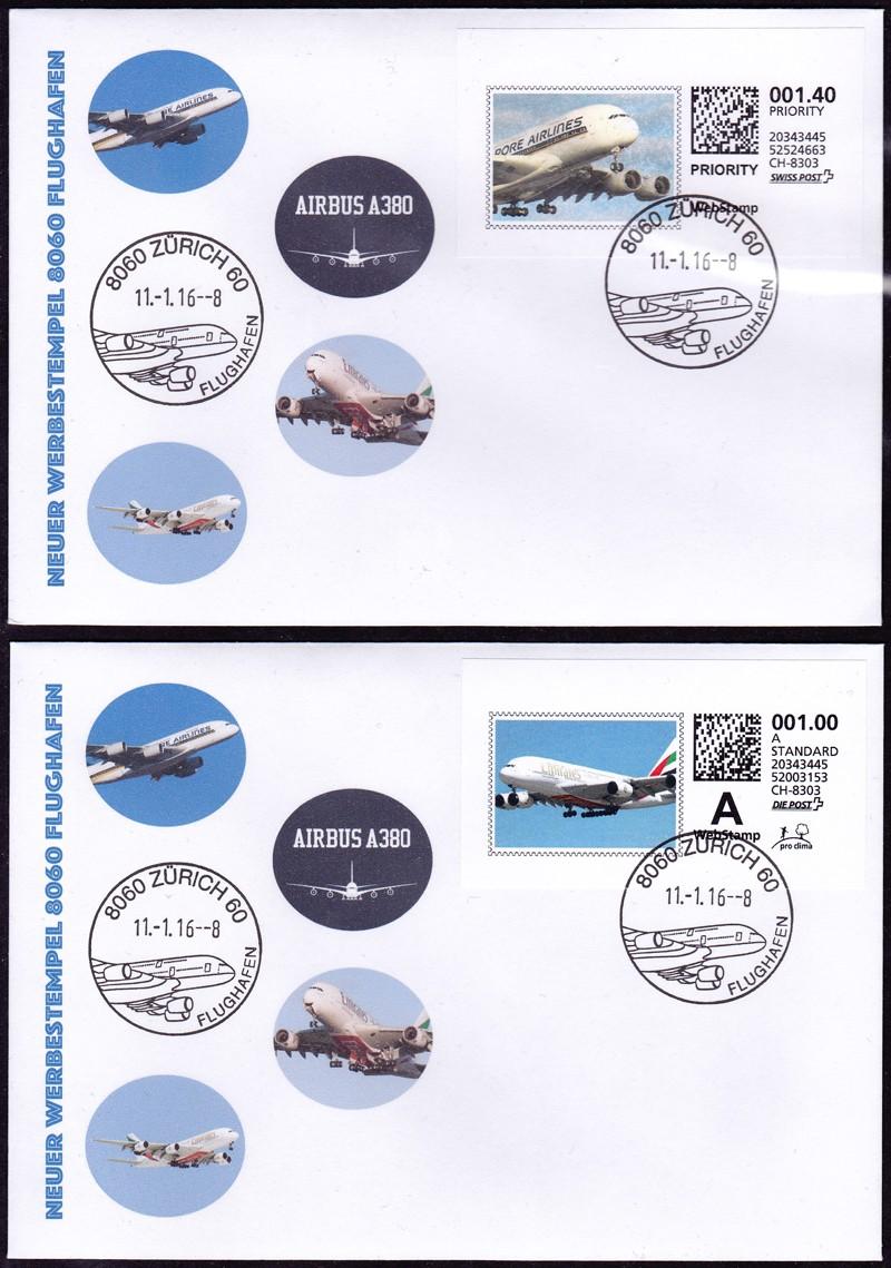 Neuer Werbedatumstempel Flughafen Zürich Brief10