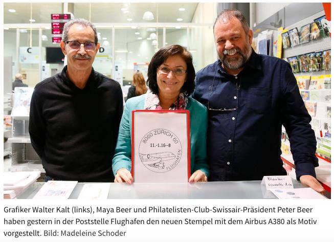 Neuer Werbedatumstempel Flughafen Zürich Zeitun10