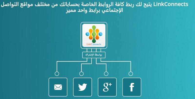 Link Connects صفحة واحدة تجمع كل حساباتك فيها Image10