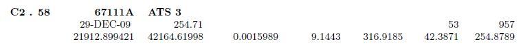 Liste des objets en orbite (quasi)géosynchrone Captur15