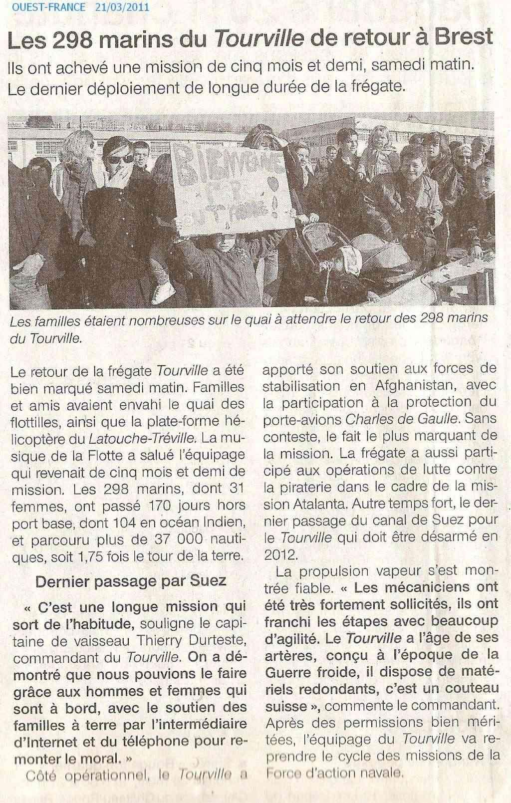 TOURVILLE (FRÉGATE) - Page 4 Numar131