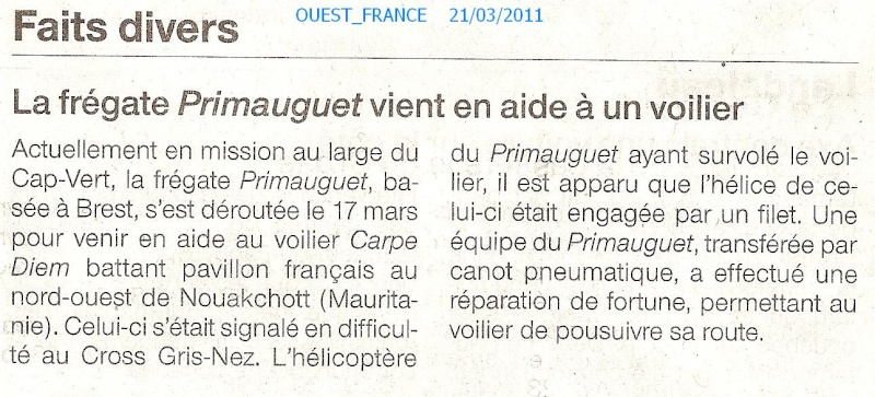 PRIMAUGUET (FRÉGATE) - Page 2 Numar132