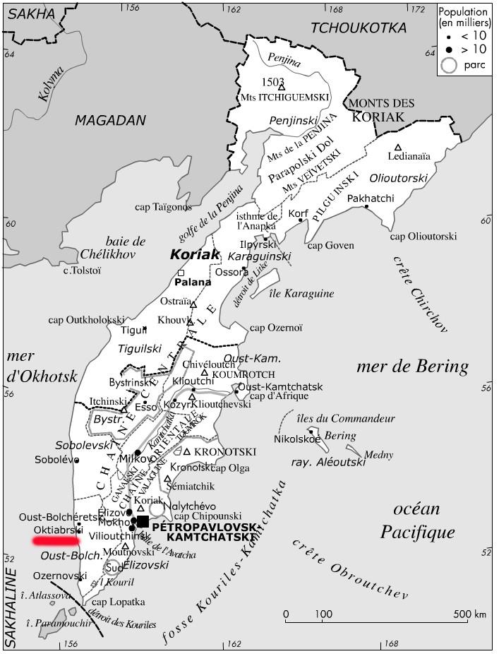 [C'est quoi ] Cote ouest du Kamchatka : pêcherie ou élevage ? Carte110
