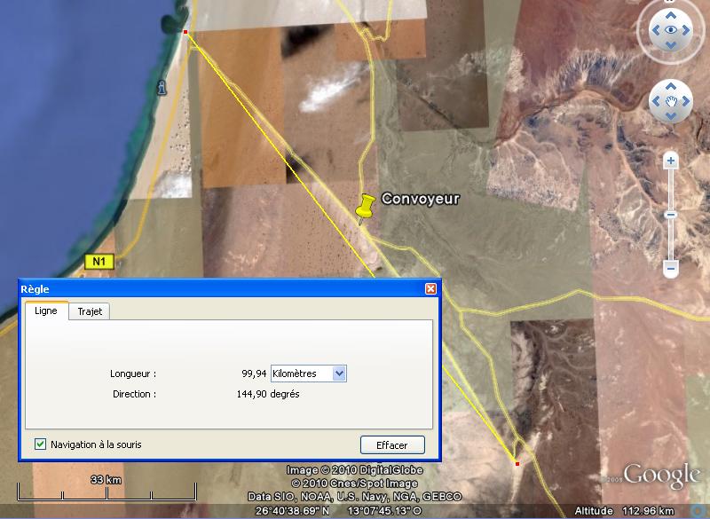 100 Km de long : le plus grand tapis roulant (convoyeur) du monde ! - Sahara occidental Convoy10