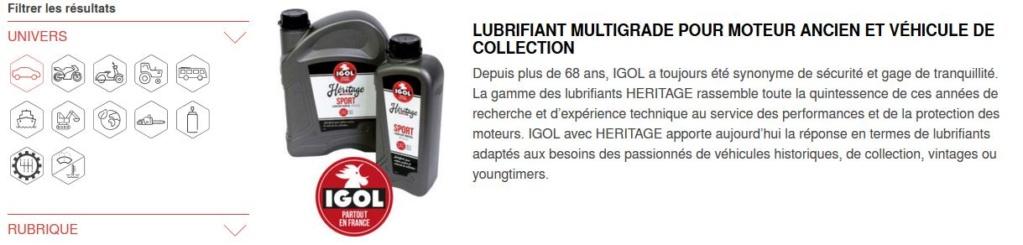 Huiles, lubrification, liquides, remplissage des fluides des organes mécaniques pour anciennes Igol_210