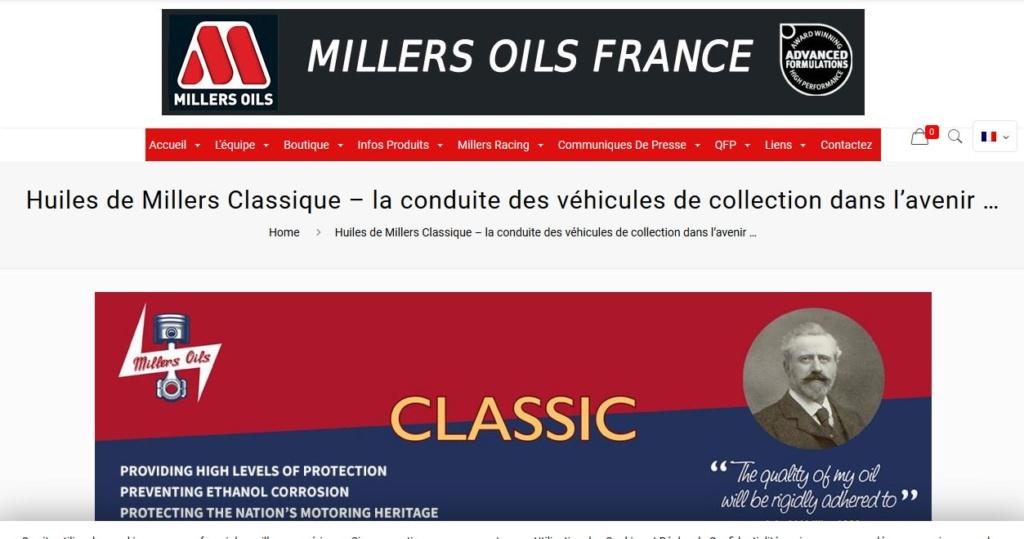 Huiles, lubrification, liquides, remplissage des fluides des organes mécaniques pour anciennes Miller10