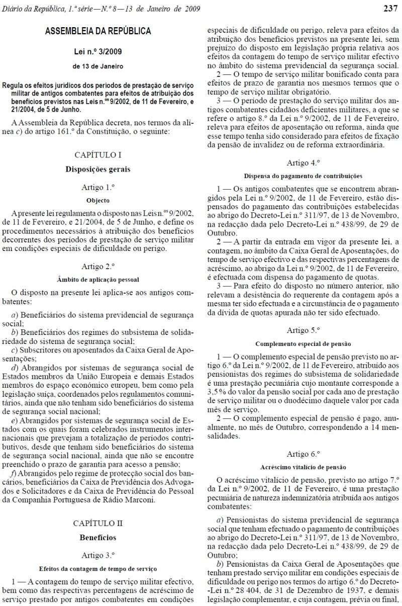 Lei 3/2009 - Publicada no Diário da República n.º 8, de 13JAN2009, I Série Lei3_211
