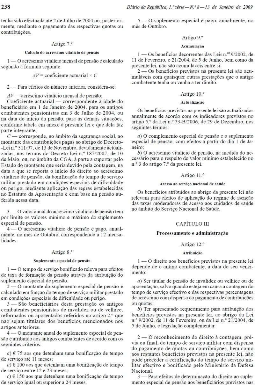 Lei 3/2009 - Publicada no Diário da República n.º 8, de 13JAN2009, I Série Lei3_212