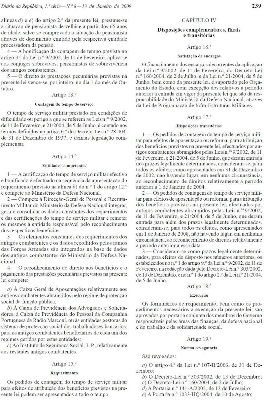 Lei 3/2009 - Publicada no Diário da República n.º 8, de 13JAN2009, I Série Lei3_213
