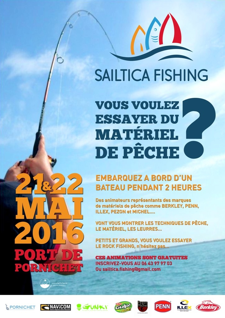 Sailtica Fishing 2016 ... 21 et 22 Mai à Pornichet Affich11