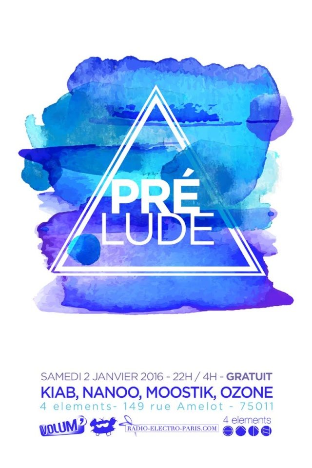 """Prélude"": 02/01/2016 @ 4 Eléments (Paris 11): deep ... tek  4_el_010"