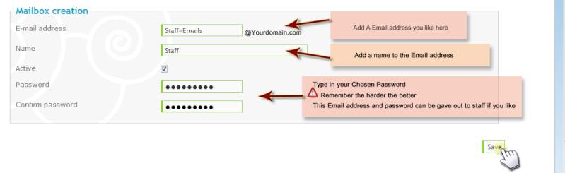 Een persoonlijk domein mailbox maken voor uw forum (alleen via ActieForum) 1aa11