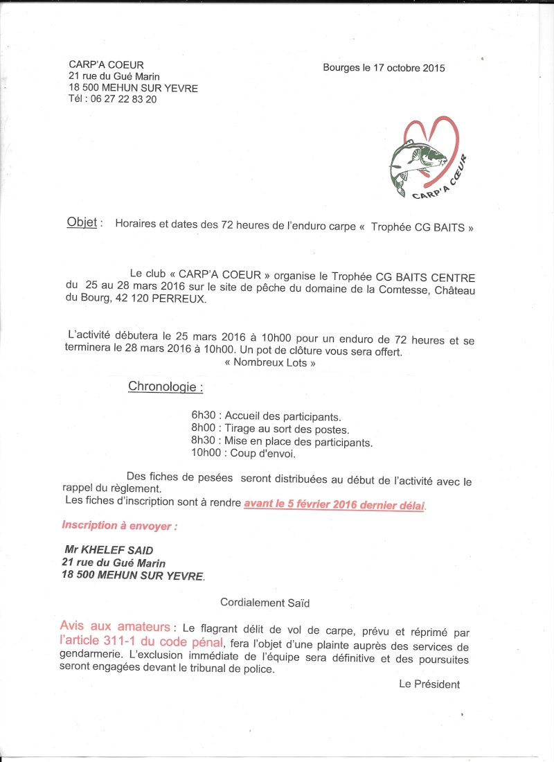 Trophée CG Baits 113