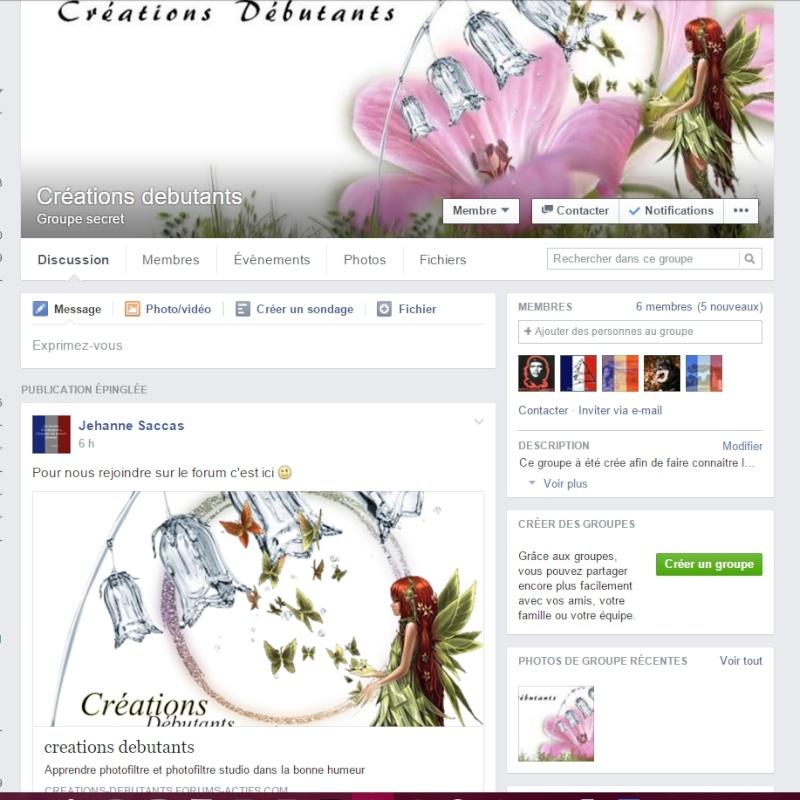 Le groupe facebook est ouvert  11111