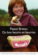 """Une publicité """"Paysan Breton"""" qui joue sur la carte Breton = petit gars roux aux cheveux mi longs Paysan10"""