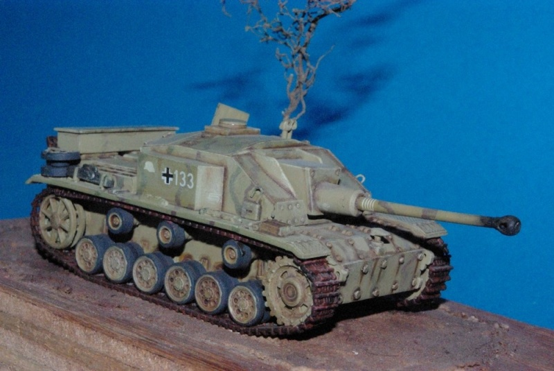 Stug III ausf F8 ( chassis plastique ESCI , casemate scratch , canon résine ALBY ) Imgp2935