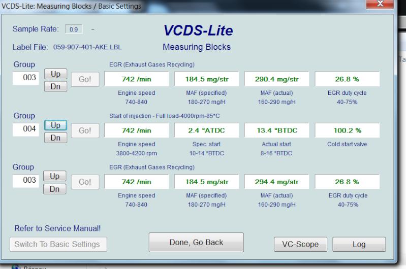 [ Audi A4 B6 2.5TDI an 2003 ] Default VCDS 00550  00410