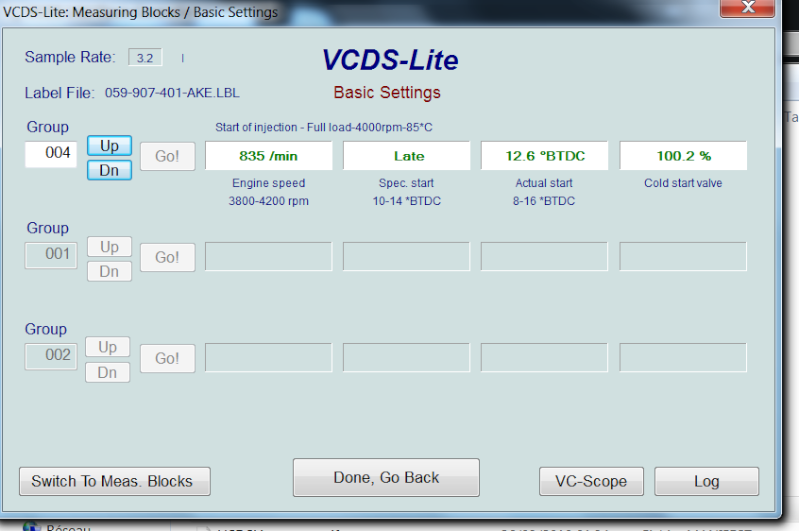 [ Audi A4 B6 2.5TDI an 2003 ] Default VCDS 00550  0710