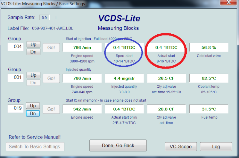 [ Audi A4 B6 2.5TDI an 2003 ] Default VCDS 00550  11110