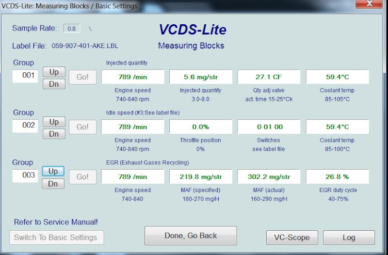 [ Audi A4 B6 2.5TDI an 2003 ] Default VCDS 00550  1310