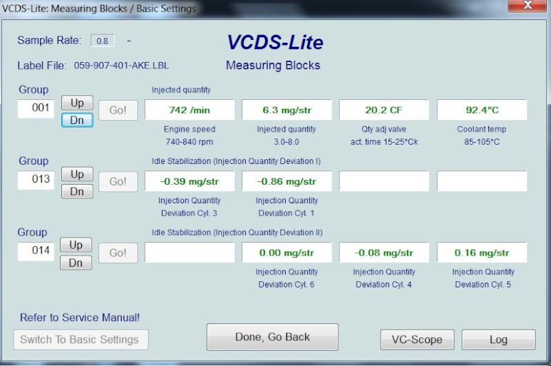 [ Audi A4 B6 2.5TDI an 2003 ] Default VCDS 00550  1510