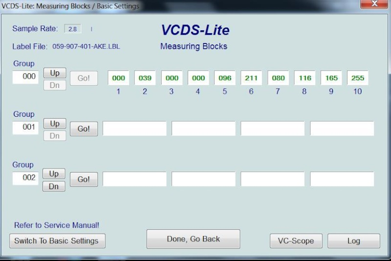 [ Audi A4 B6 2.5TDI an 2003 ] Default VCDS 00550  Imp111